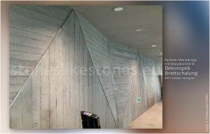 Facettendesign Wand mit Betondekor - Betonoptik