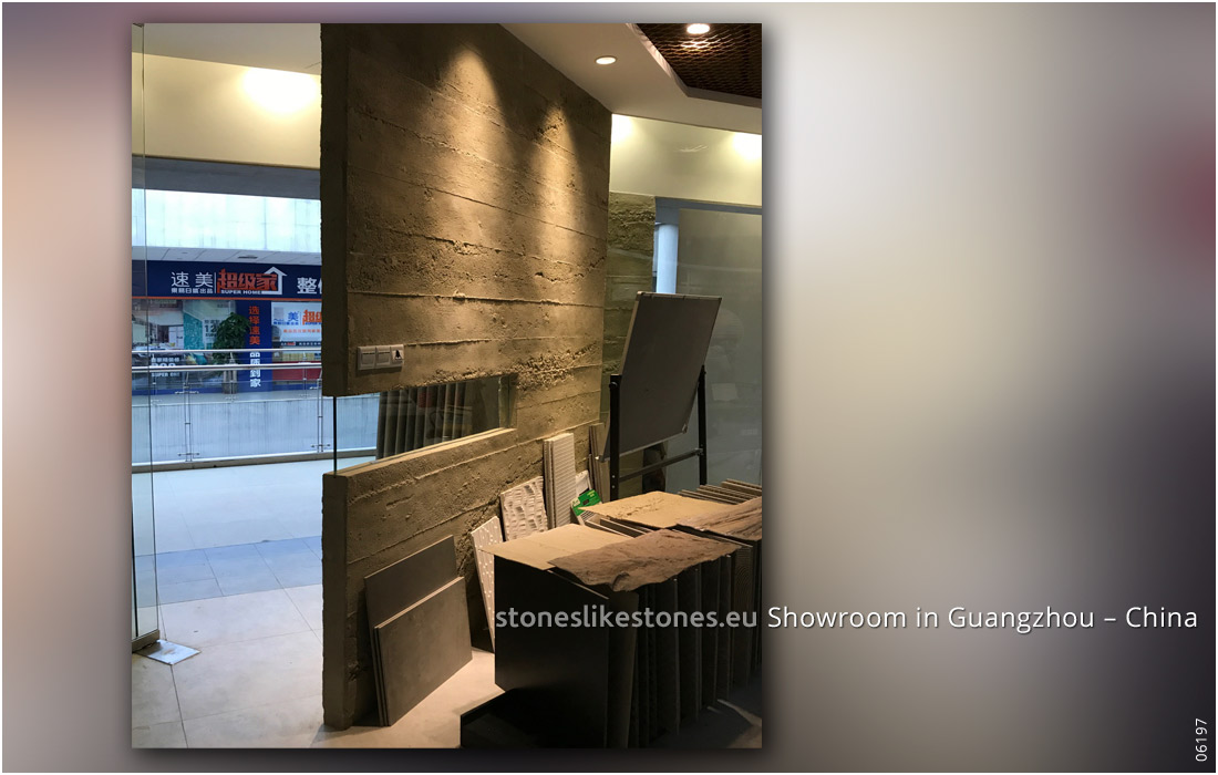 StoneslikeStones Aktivität In China 06197 Steinpaneel 127 Beton – Showroom Guangzhou