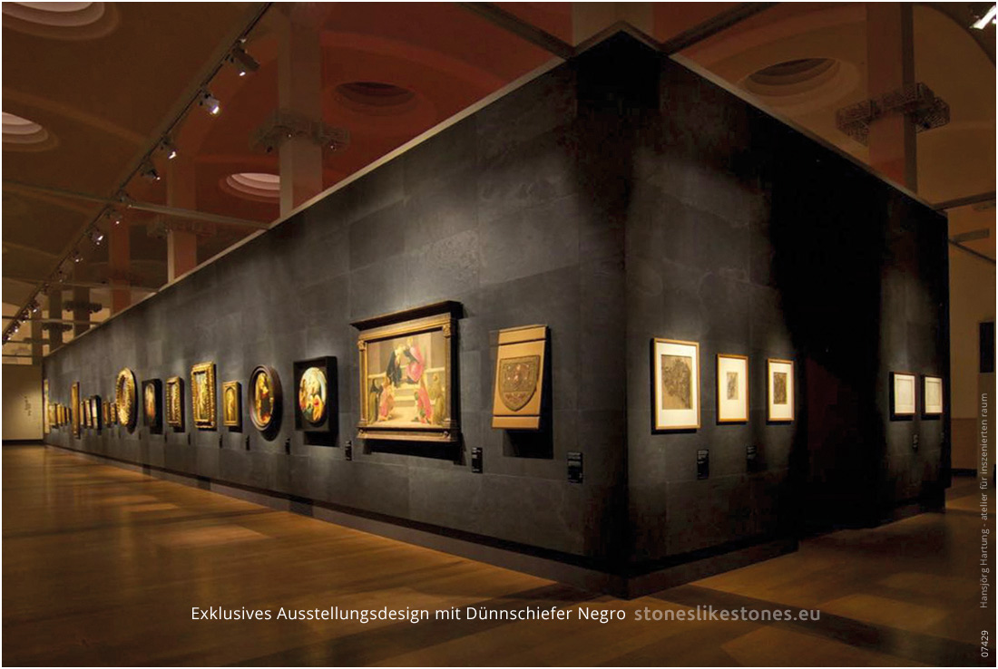 StoneslikeStones Duennschiefer Business 07429 – LB 1900 NEGRO – Exhebition Botticelli